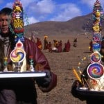 those were brought to the tent that monks giving special spiritual performance